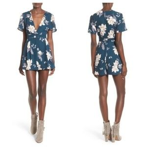 ASTR the Label Floral Print Romper